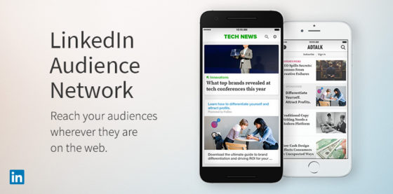 annonsera LinkedIn audience network