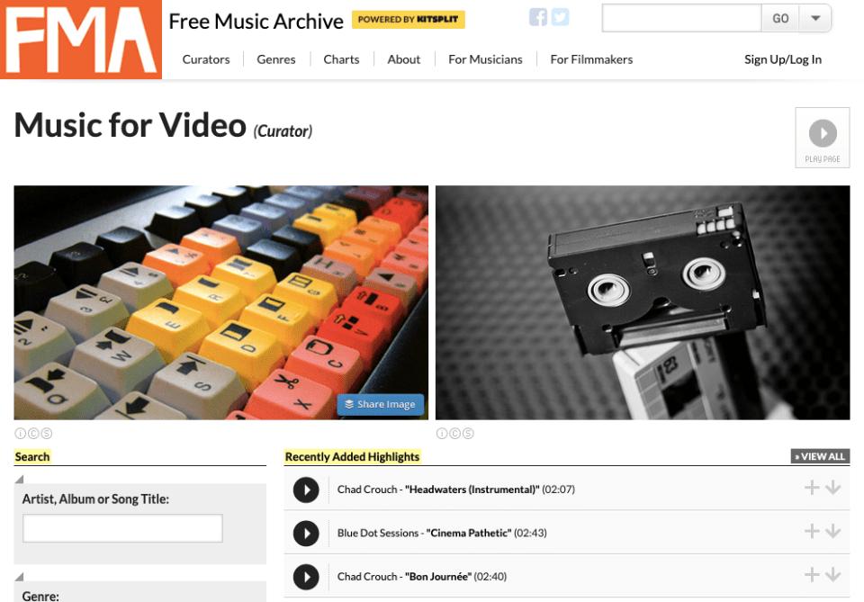 gratis musik sociala medier FMA