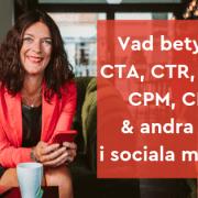 cpc cta cpc ctr cro sociala medier marknadsföring