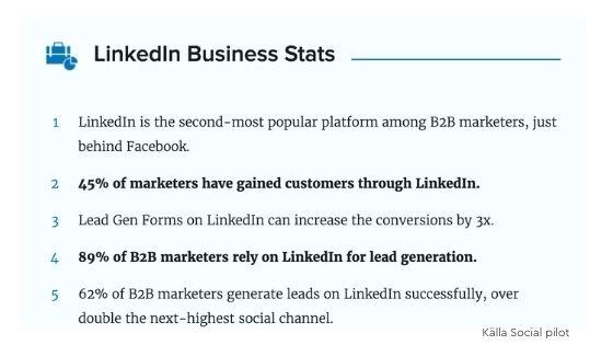 statistik företag LinkedIn