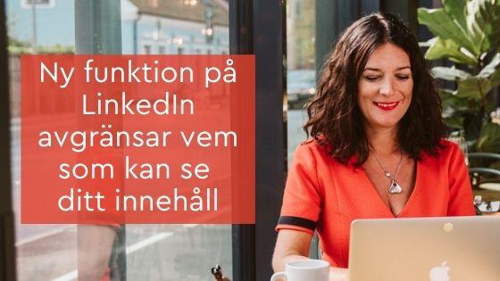 avgränsar innehåll LinkedIn