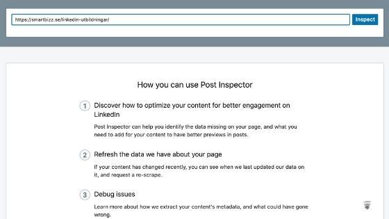 post inspector LinkedIn
