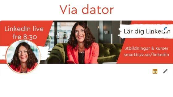 bakgrundsbild LinkedIn dator
