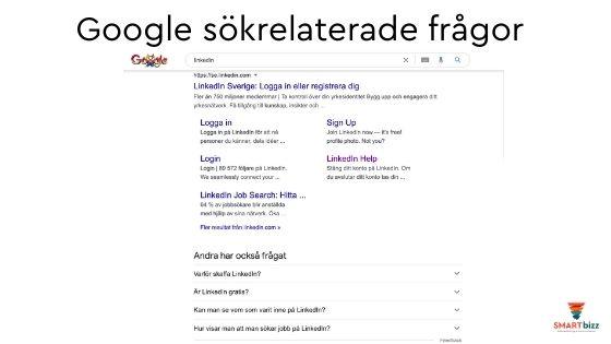 google sök innehåll