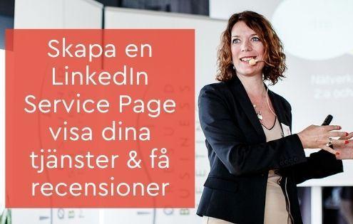 service page LinkedIn