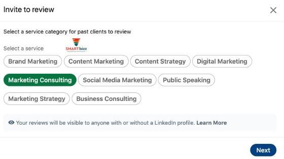 recension linkedin service page