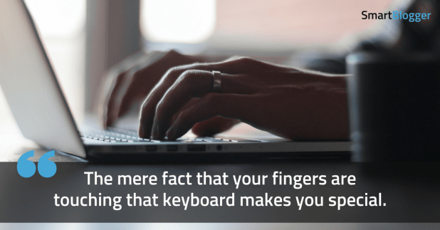 fingers touching the keyboard