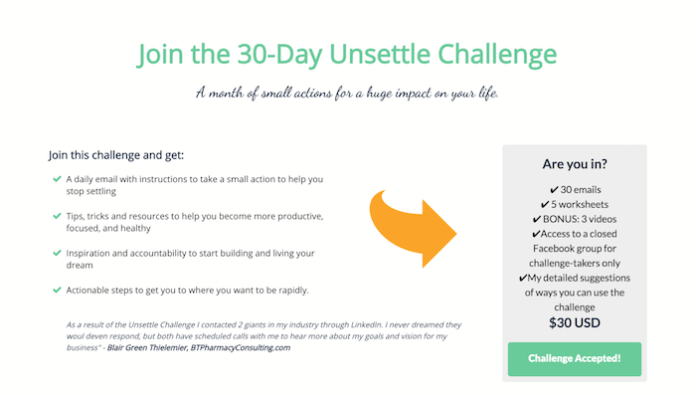 offer a challenge