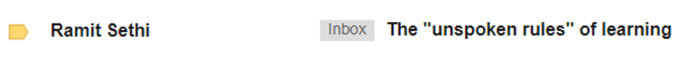 Use Power Words in Email Subject Lines - Ramit Sethi