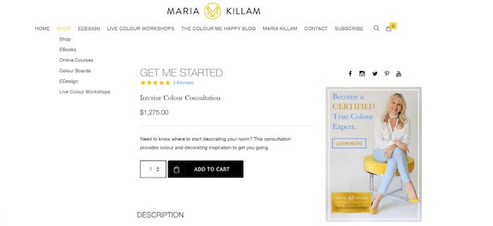 Maria Killam - Consultazioni