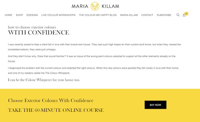 Maria Killam - Corsi e seminari