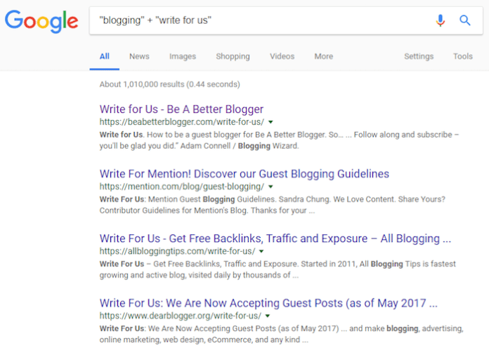 Use Google to find the best places to guest blog.