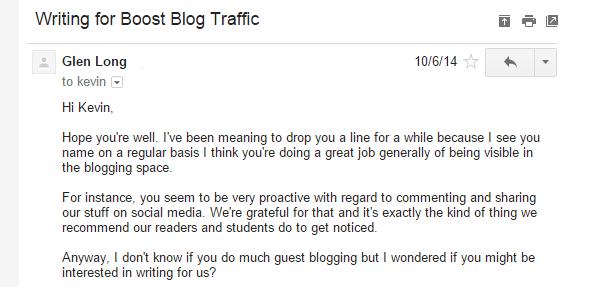 Gain credibility through guest blogging.