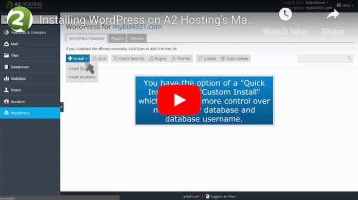 A2Hosting WordPress Tutorial - 2