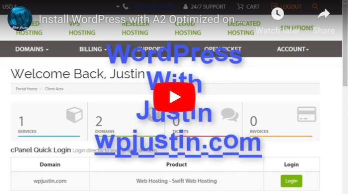 A2Hosting WordPress Tutorial