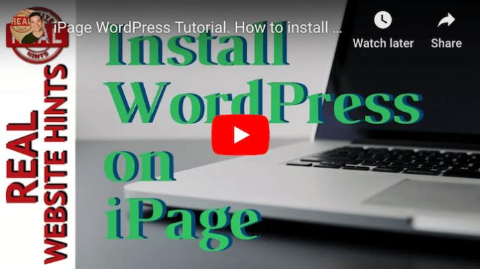 iPage WordPress Tutorial