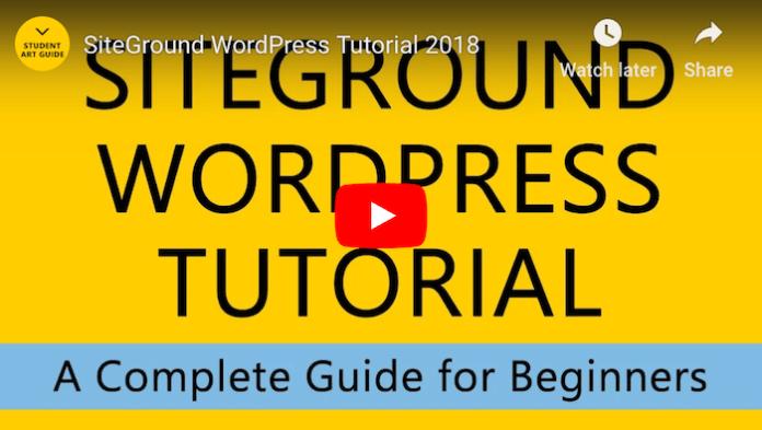 Siteground WordPress Tutorial