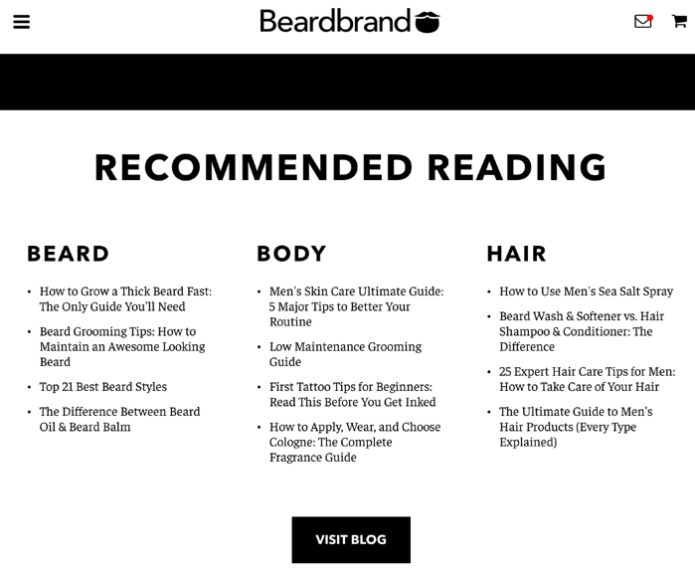 beardbrand blog integration