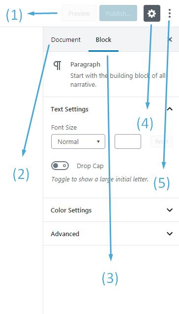 Sidebar Navigation for WordPress Block Editor