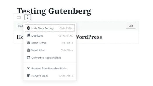 Edit Block in WordPress Block Editor