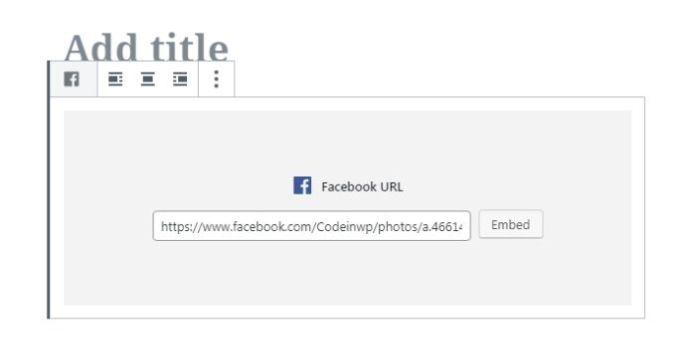 031 wordpress block editor embeds facebook example 1