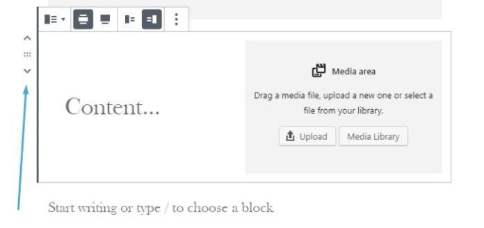 038 wordpress block editor rearrange blocks