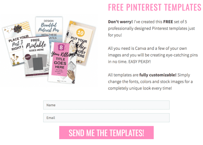 email marketing template example