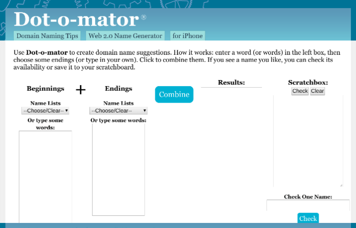 blog name generator dot o mater