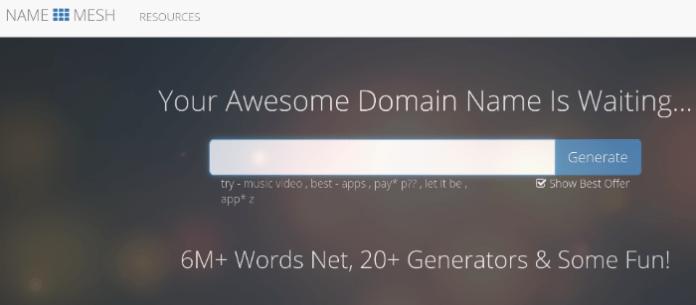 blog name generator namemesh