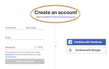 Rete di partner eBay: creare un accesso personale o aziendale