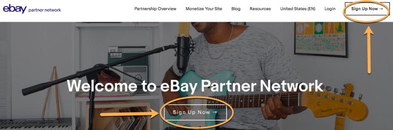 Rete di partner eBay: SignUpNowRev