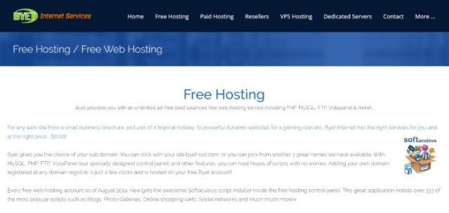 Free WordPress Hosting - Byet