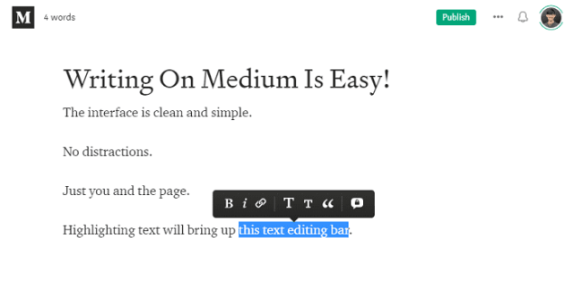 medium partner program medium text editor