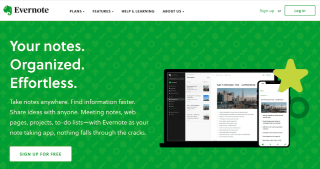content marketing tools evernote