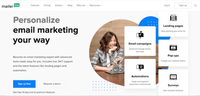 content marketing tools mailerlite