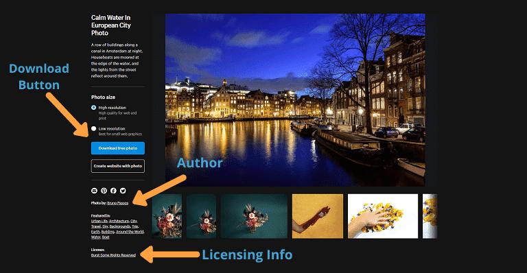 stock photo sites burst layout