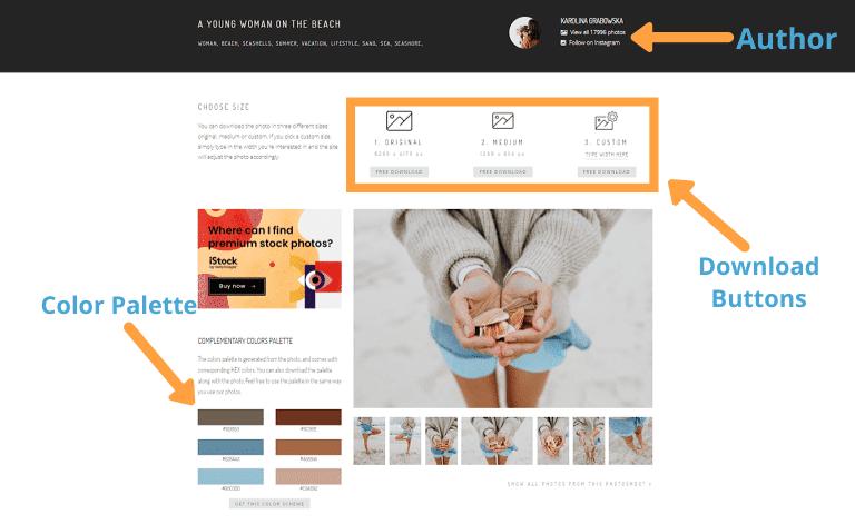stock photo sites kaboompics layout