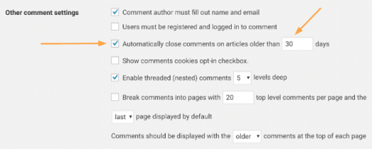 WordPress Close Comments
