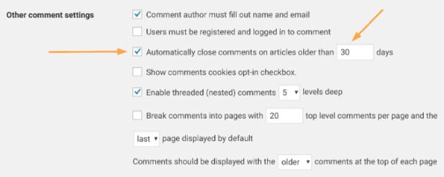 WordPress Close Comments
