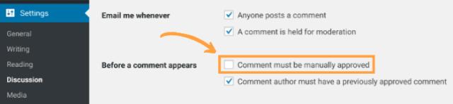 WordPress Comment Moderation 2