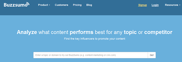 Buzzsumo Content Analyzer