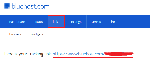 BlueHost Affiliate Tracking Link