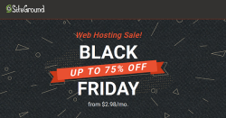 SiteGround Black Friday Sale and Cyber Monday offers
