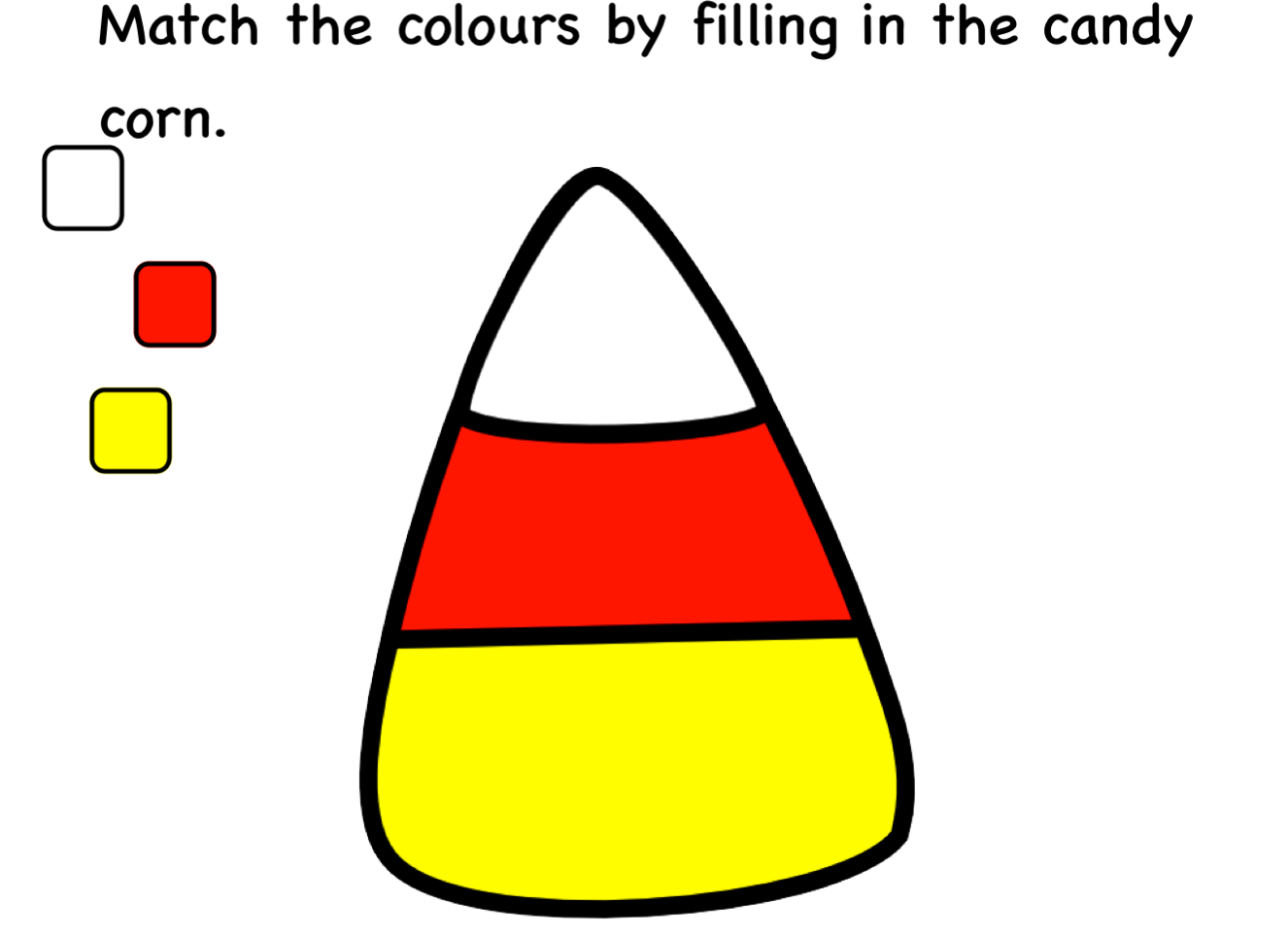 Candy Corn Match Smart Notebook Worksheets Smart Board Ideas