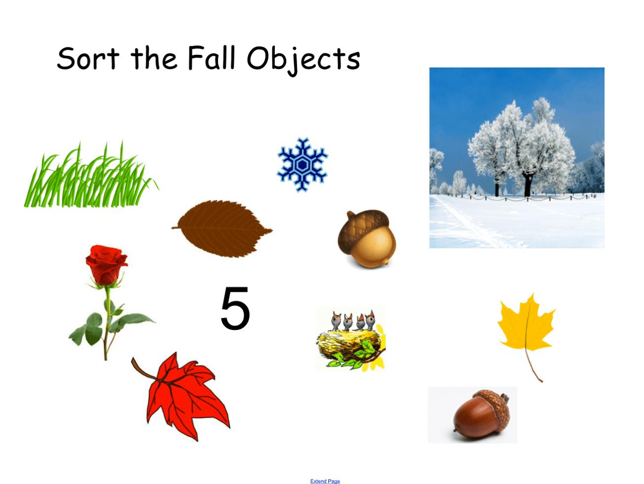 Sorting Fall Objects Smart Notebook Smart Board Ideas