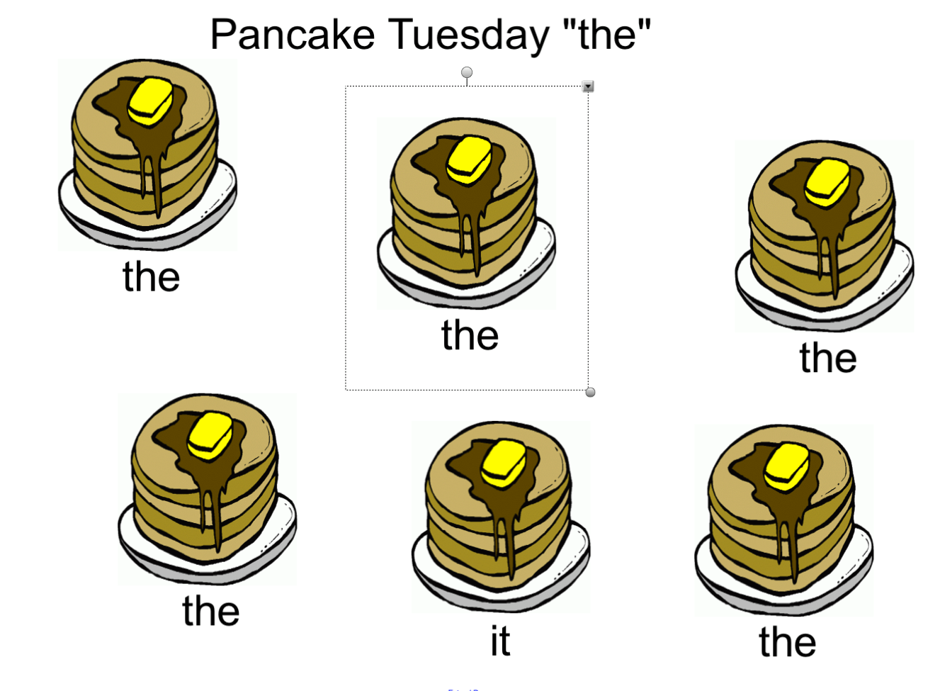 Pancake Tuesday Sight Word Practice The Smart Notebook