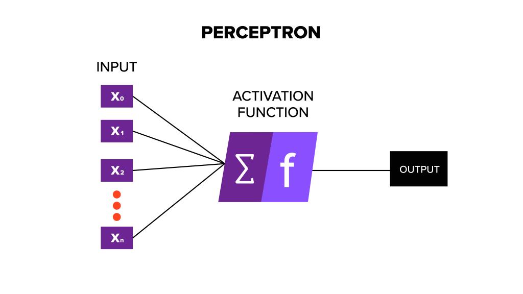 Graphic depicting a perceptron