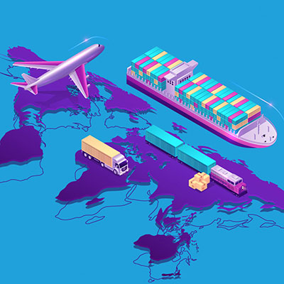 plane, boat, truck, train, on earth abstract