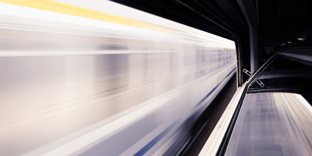 Velocity of a speeding train