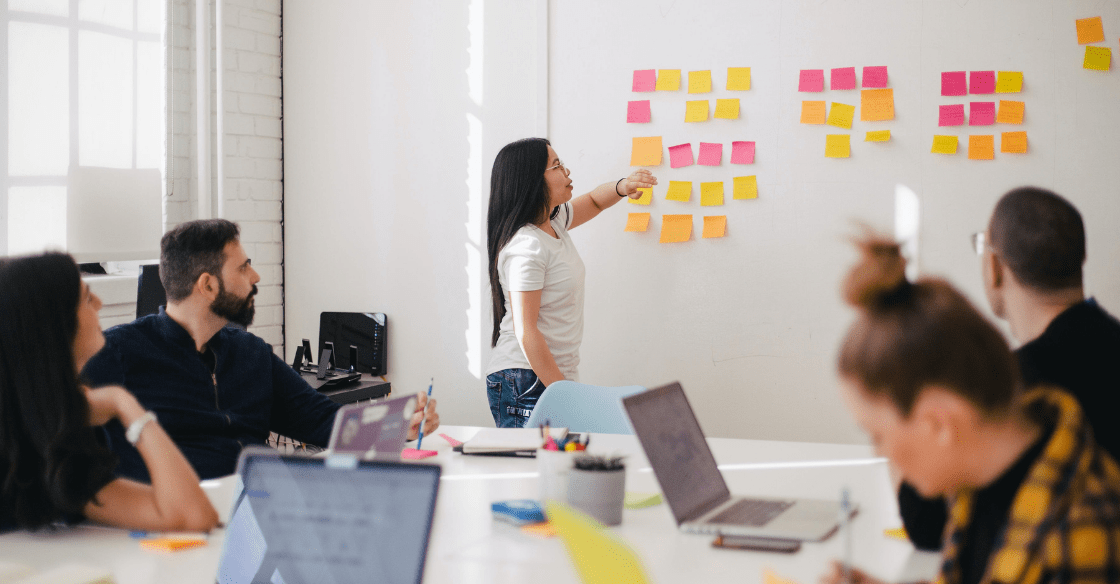 Team working at a digital marketing agency